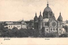 Breslau - Synagoge Postcard - Resize